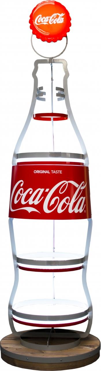 stand metalowy butelka coca cola