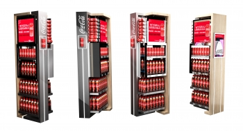 Coca-Cola EKSPOZYCJA-1/4 PALETY